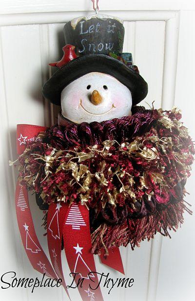 Snow Man Christmas Tassel-snowman,ornament,holiday,homedecor,gift,decoration,Christmas,tree,hat,red,