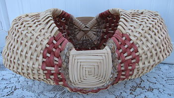 Handmade Egg Basket-basket,handmade,gift,woven,natural,cottage,homedecor,decoration,godseye,shabby,dyed,reed