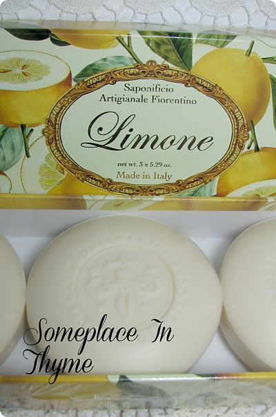 Triple Bars Of Italian Lemon Soap-soap,lemon,bath,gift,italian,decor,decoration,cottage,bathroom