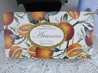 Orange Scented Italian Soap-soap,orange,box,handmade,cottage,gift,
