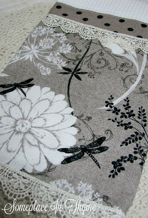 Guest Towel With Lace-waffle weave, towel, bath decor