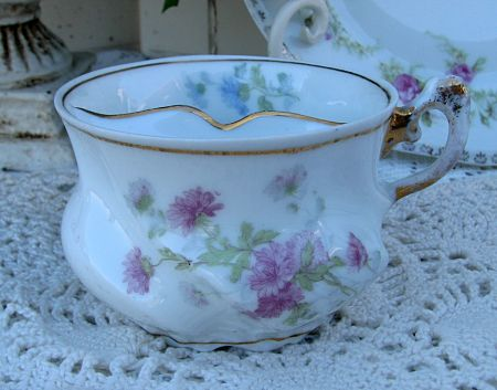 Beautiful Mustache Cup With Flowers-cup,vintage,mustache,flowers,cottage,pink,blue,vienna,austria,old,antique,cottage,homedecor,decoration