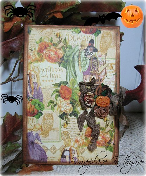 Halloween Photo Book-paper,roses,book,photo,shabby,holiday,Halloween,pictures,gift,handmade,scrapbooking,ribbon