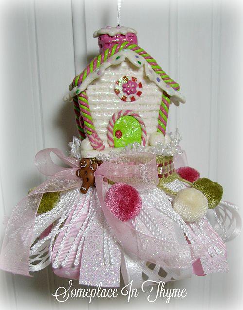 Ginger Bread House Tassel-tassel, home decoration, gingerbread house, Christmas decoration, home decor, handmade Christmas tassel, Handmade gift, ribbons, gingerbread man, Christmas, holiday decoration, tassel