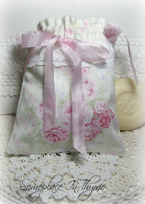 Bouquet Of Flowers Sachet Bag-holiday, Mother's Day, gift, handmade gift, roses, pink roses, flowers, soap, handmade soap, cottage decor, home decor