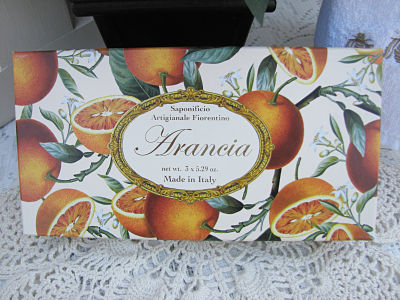 Orange Scented Italian Soap-soap,orange,box,handmade,cottage,gift,