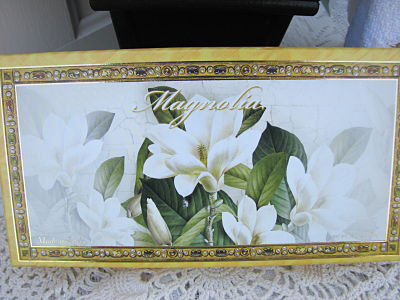 Box Of Three Magnolia Italian Soap-soap,cottage,italy,handmade,gift,
