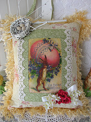 Sweet And Shabby Easter Pillow